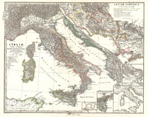Italia, Gallia cisalpina, Sicilia, Sardinia, Corsica, ab adventu Gallorum usque ad bellum Marsicum