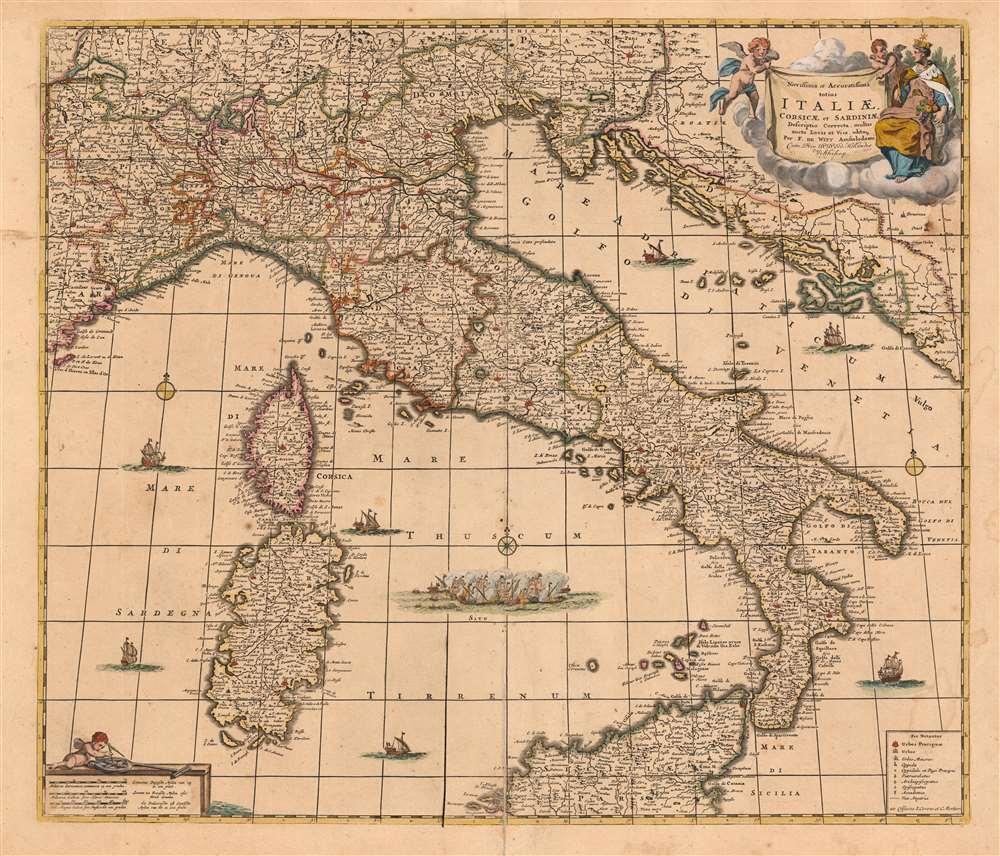 Novissima et Accuratissima totius Italiae, Corsicae et Sardiniae Descriptio Correcta, multis auct Locis et Viis editaque. - Main View
