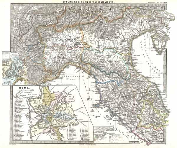 Italiae Regiones IIII V VI VII VIII VIIII X XI.