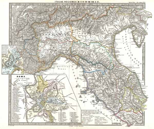 Italiae Regiones IIII V VI VII VIII VIIII X XI. - Main View