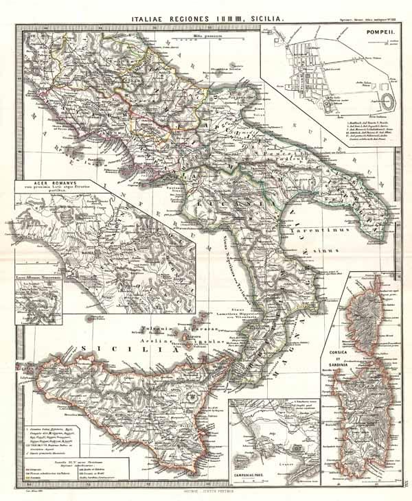 Italiae regiones I II III IIII, Sicilia.