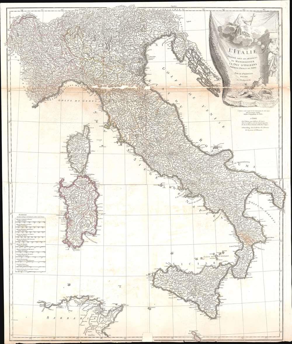 L'Italie, publiee sous les auspices de Monseigneur le Duc d'Orleans, Premier Prince du Sang. - Main View