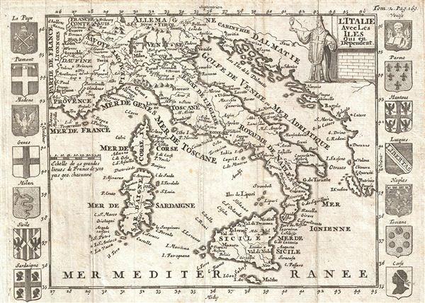 l'Italie Avec Les Iles qui en Dependent.