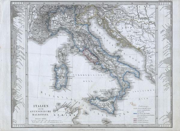 Italien order die Apenninische Halbinsel.