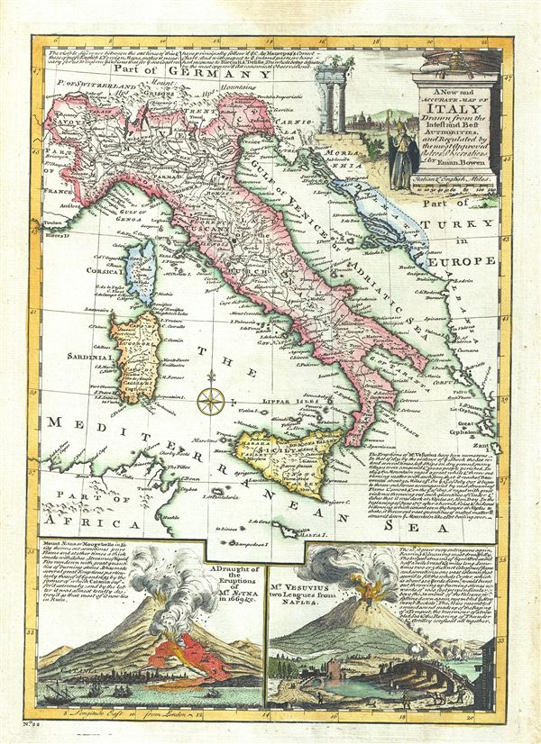 A New and Accurate Map of Italy Drawn from the latest and Best Authorities. - Main View