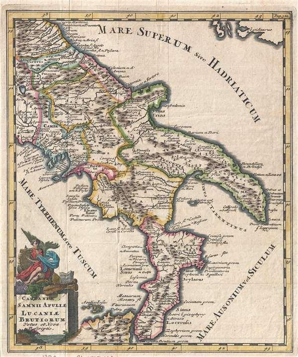 Campaniae, Samnii Apuliae Lucaniae Brutiorum Vetus et Nova Descriptio.
