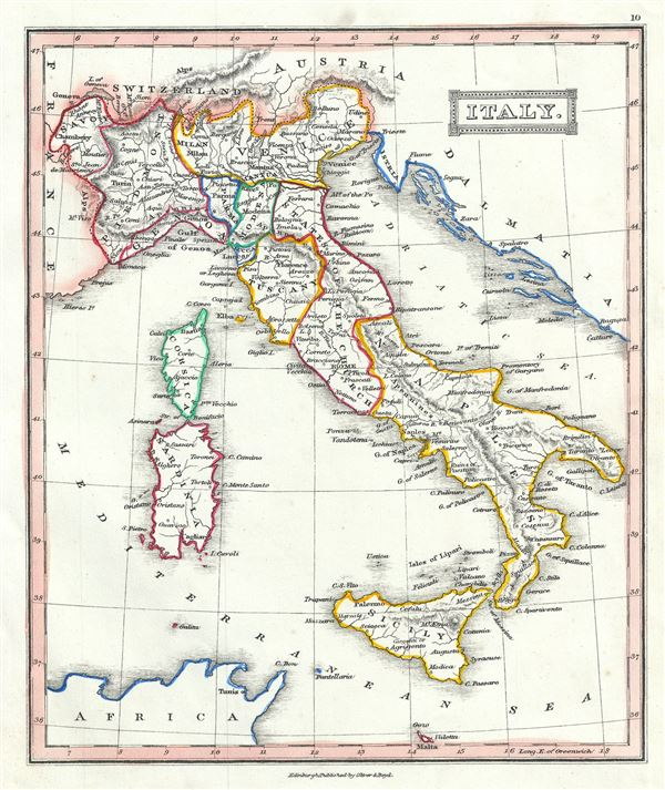 Italy Geographicus Rare Antique Maps - Us-map-1845
