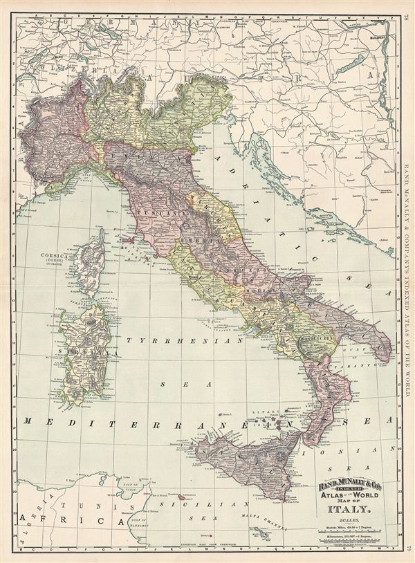 Map of Italy. - Main View