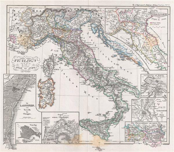 Italien von 1450 bis 1792.