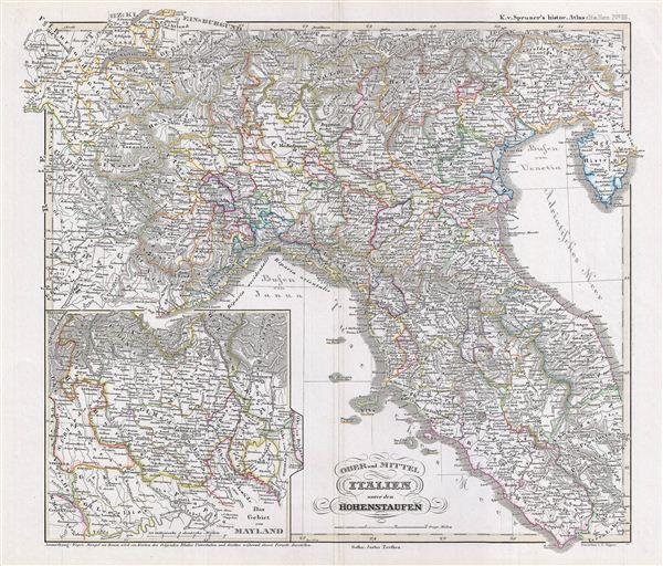 Ober und Mittel Italien unter den Hohenstaufen. - Main View