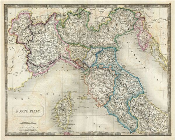North Italy Geographicus Rare Antique Maps