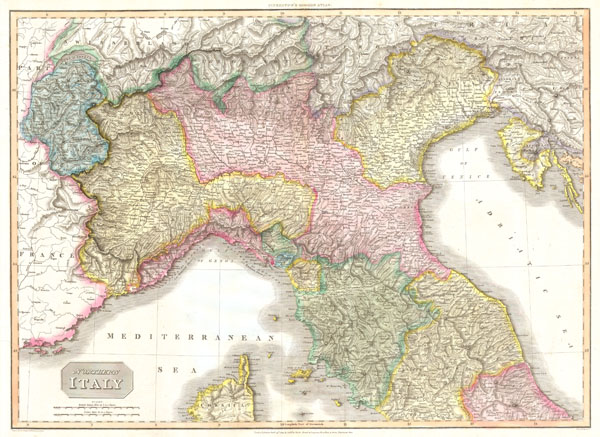 North Of Italy Map.Northern Italy Geographicus Rare Antique Maps