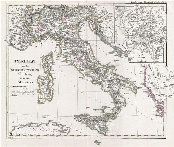 Italien unter den saechsischen & fraenkischen Kaisern, bis zu den Hohenstaufen.