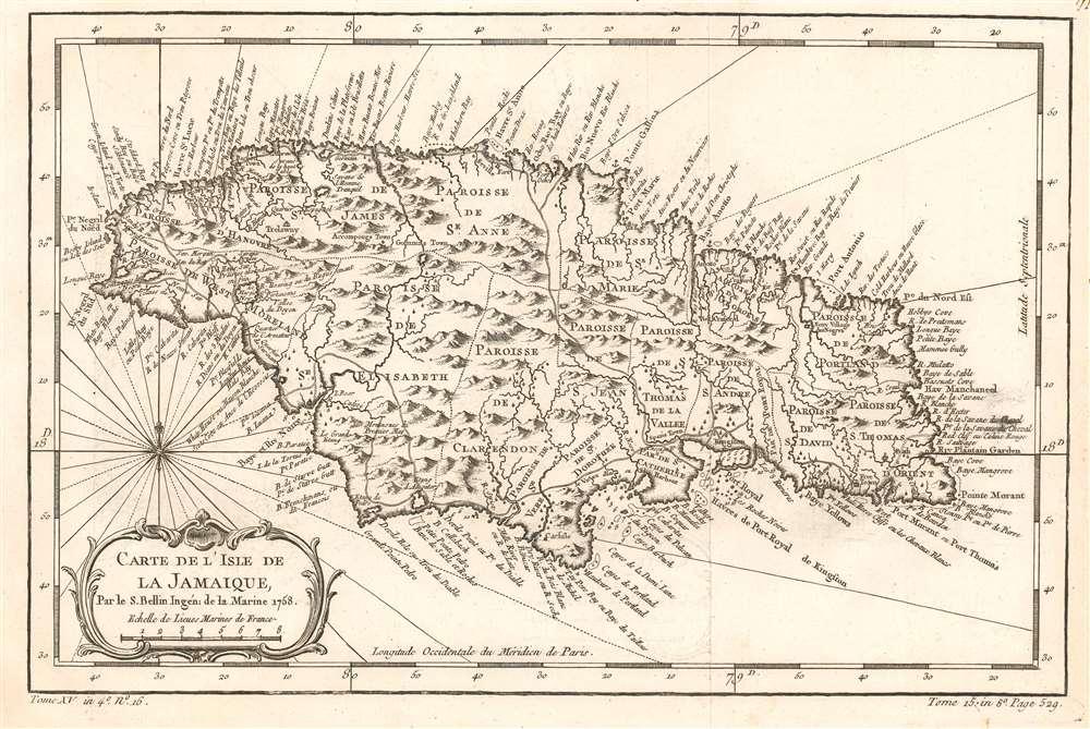 Carte de l'Isle de la Jamaique. - Main View
