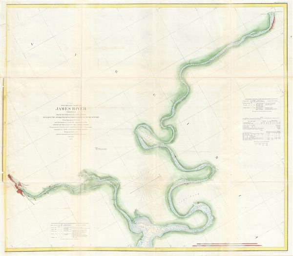 (C No. 4) Preliminary Chart of James River Virginia from Richmond to City Point Including the Appomattox River from Petersburg to the Junction. - Main View