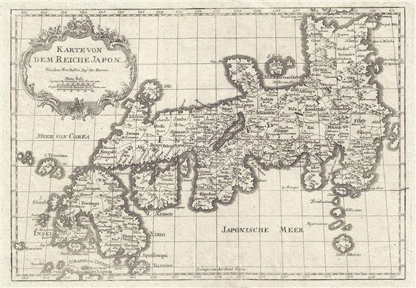 Karte Von Dem Reiche Japon.