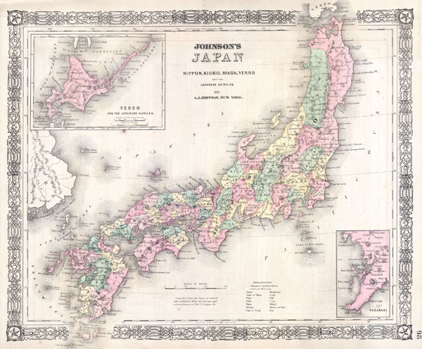 Johnson's Japan, Nippon, Kiusiu, Sikok, Yesso and the Japanese Kuriles. - Main View