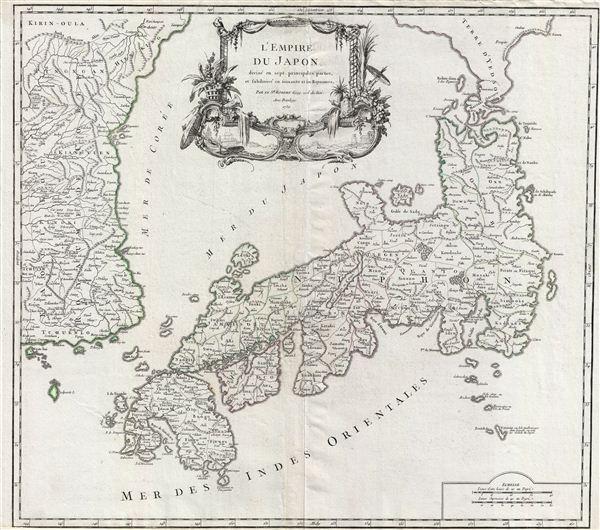 L'Empire du Japon, divise en sept principales parties, et subdivise en soixante et six Royaumes.