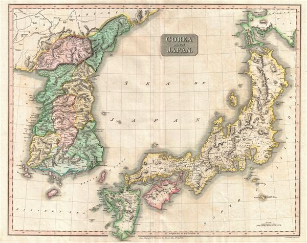 1815 Thomson Map of Japan and Korea