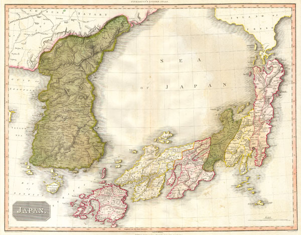 1818 Pinkerton Map of Korea and Japan