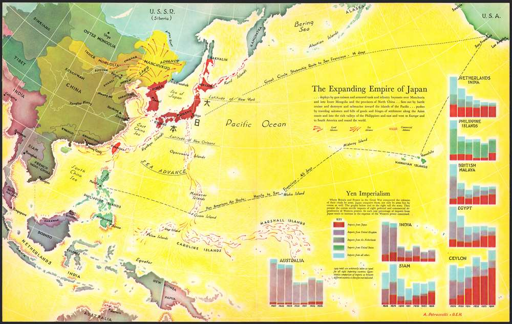 The Expanding Empire of Japan. - Main View