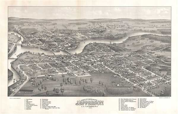 Bird's Eye View of The City of Jefferson C. S. F Jefferson Co. Wis.