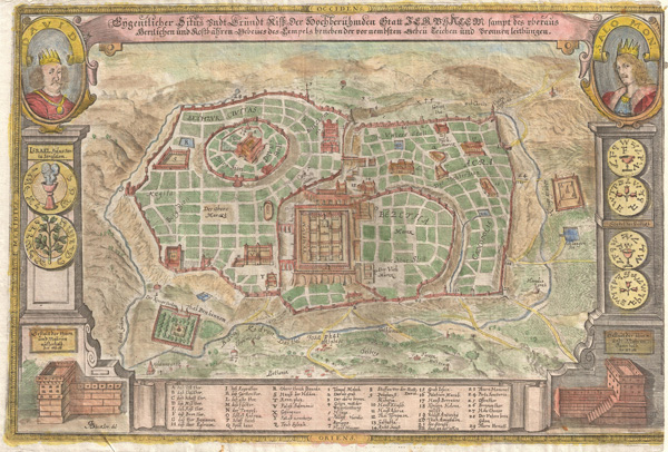 Eigentlicher Situs und Grundt Riss … Statt Jerusalem (Actual Site and Ground Plan inside Jerusalem) - Main View