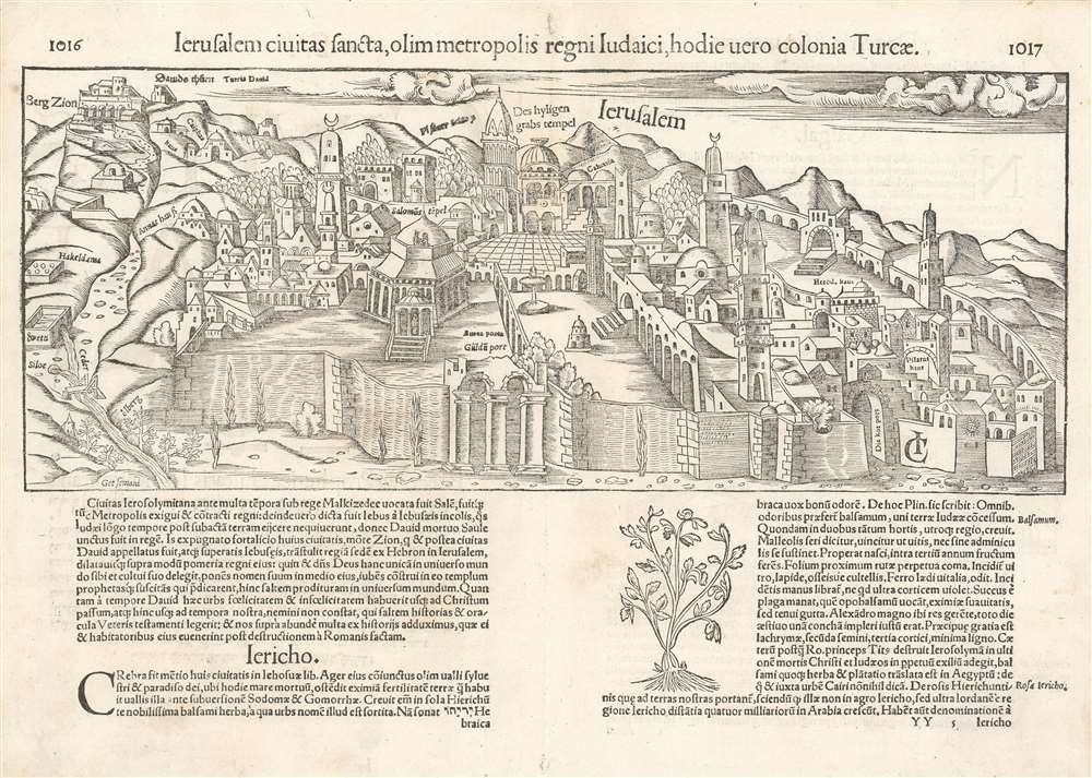 Ierusalem civitas sancta, olim metropolis regni Iudaici, hodie vero colonia Turcae.