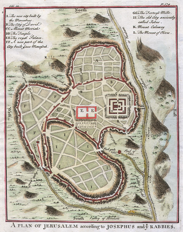 A Plan of Jerusalem according to Josephus and y Rabbies. - Main View