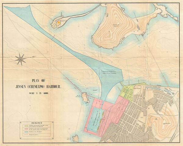 Plan of Jinsen (Chemulpo) Harbour.