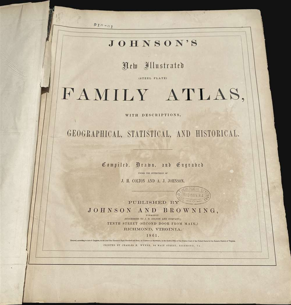 Johnson's New Illustrated (Steel Plate) Family Atlas - Alternate View 3