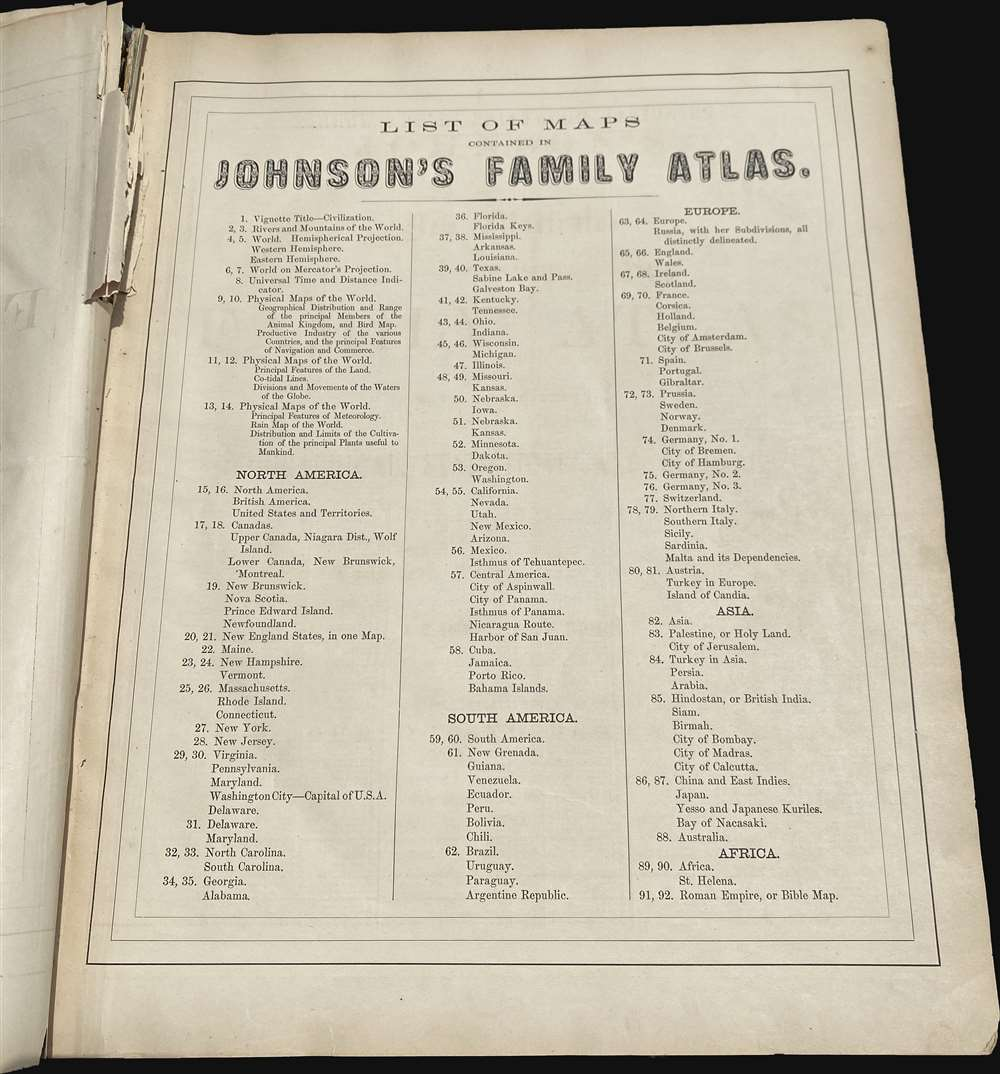 Johnson's New Illustrated (Steel Plate) Family Atlas - Alternate View 5
