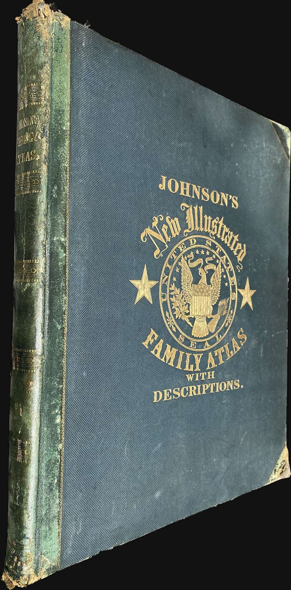 Johnson's New Illustrated (Steel Plate) Family Atlas - Main View