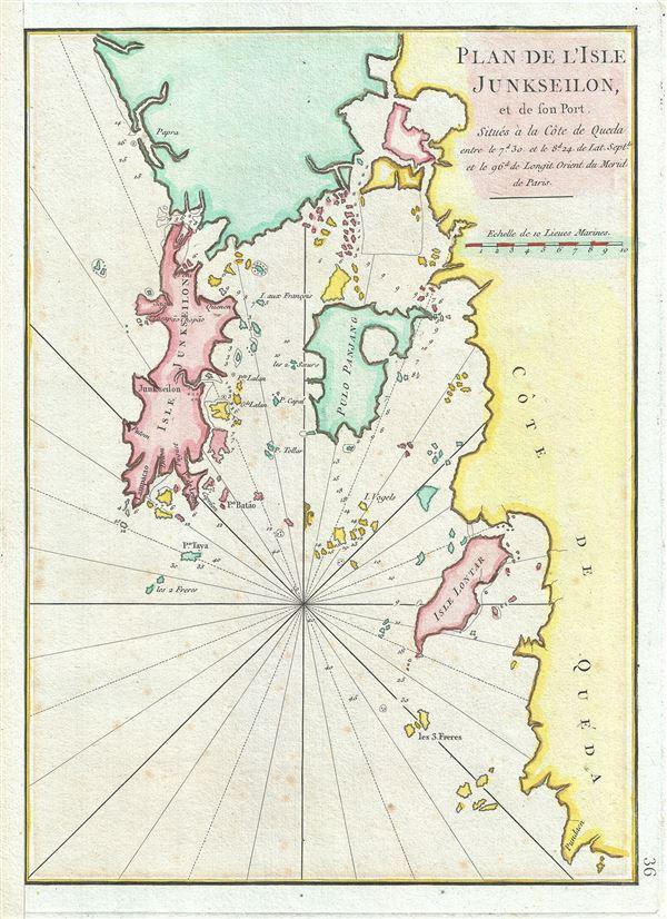 Plan de l'Isle Junseilon, et de son Port.