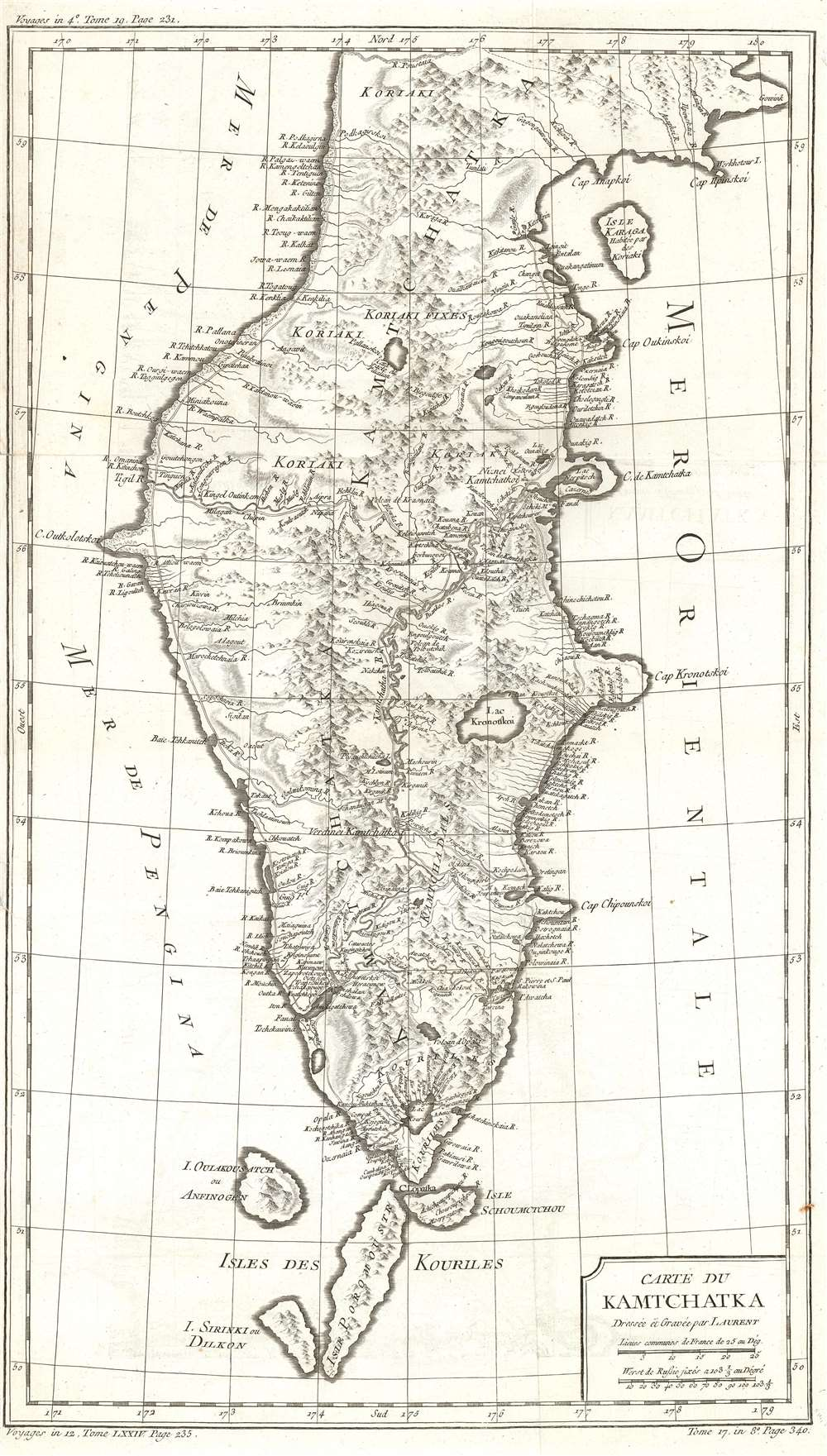 Carte du Kamchatka. - Main View