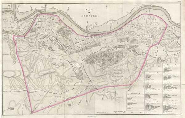 Plan of Kamptee.
