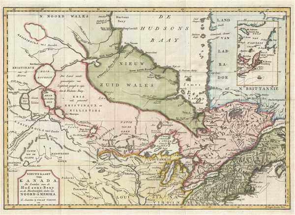 1769 Isaak Tirion Map of Canada