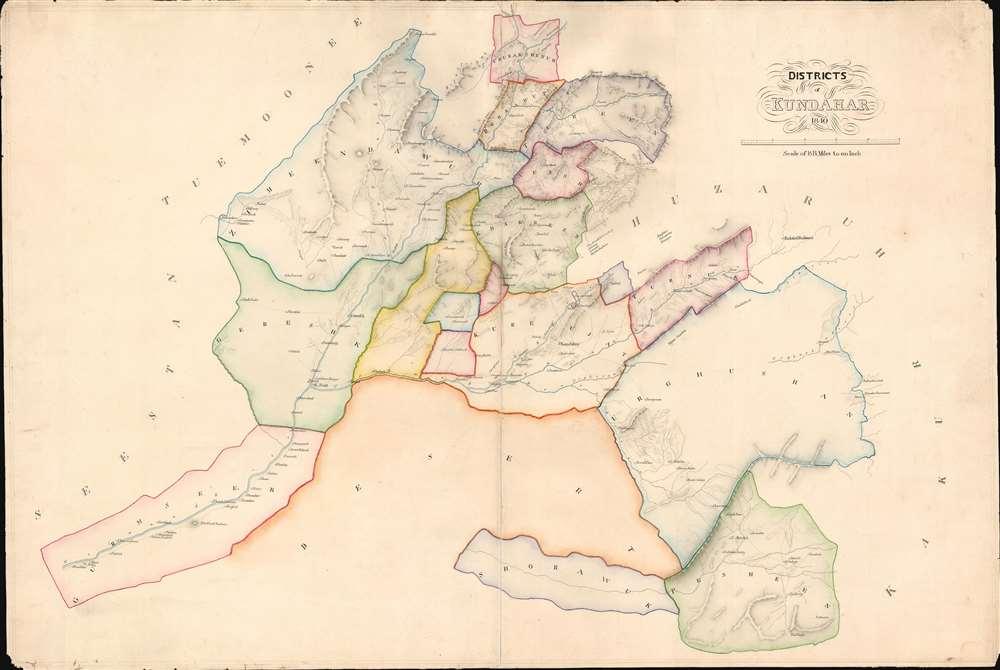 Districts of Kundahar 1840. - Main View