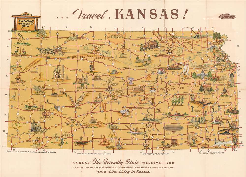 Kansas the Friendly State Welcomes You. - Main View