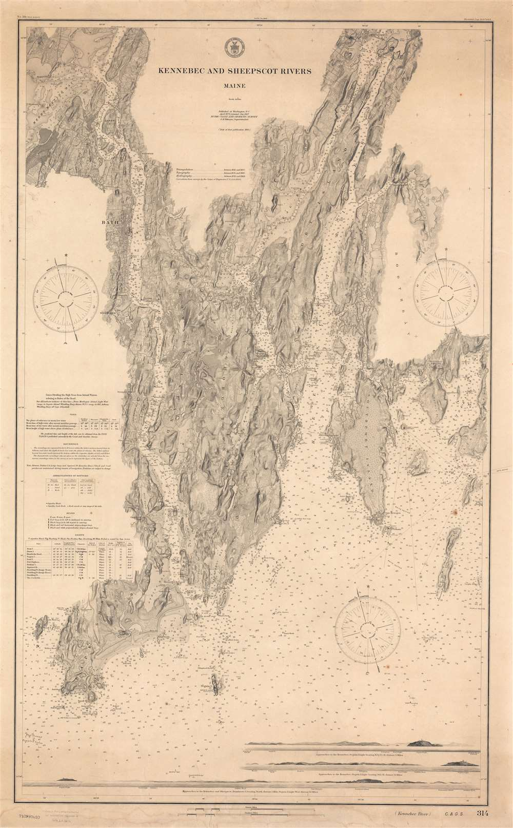 Kennebec and Sheepscot Rivers Maine. - Main View
