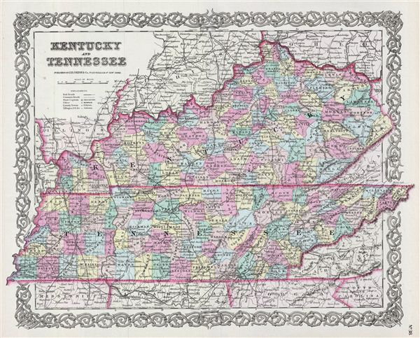 Kentucky And Tennessee Geographicus Rare Antique Maps