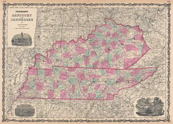 Johnson's Kentucky and Tennessee. - Main View
