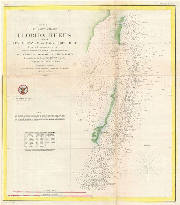 Preliminary Chart Of Florida Reefs From Key Biscayne To Carysfort