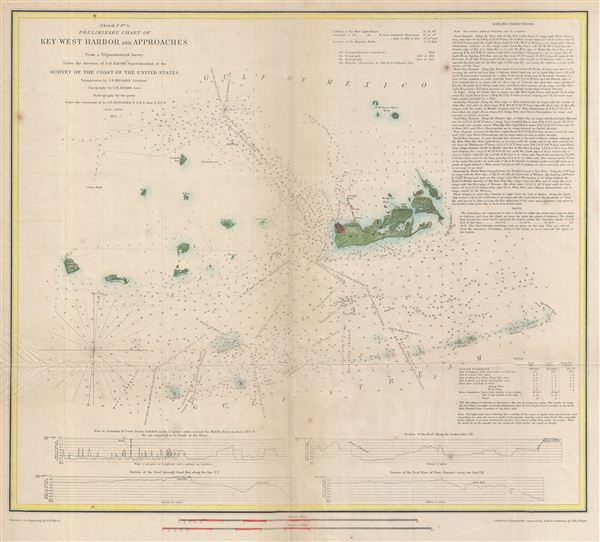 (Sketch F No. 5)  Preliminary Chart of Key West Harbor and Approaches. - Main View