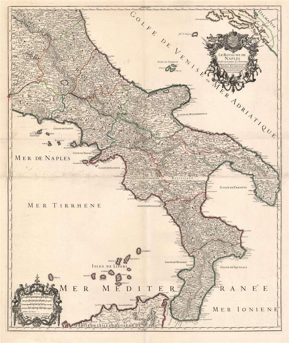 Le royaume de Naples divisé en toutes ses provinces... - Main View