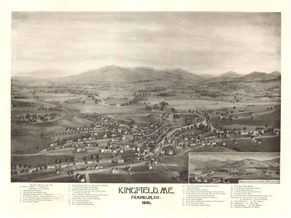 Kingfield, ME. Franklin. Co. 1895.