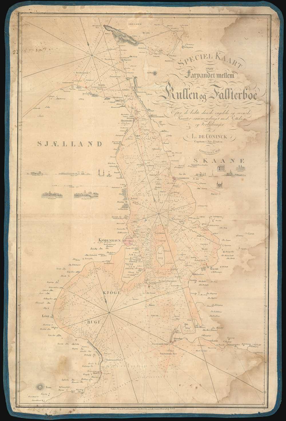 Speciel Kaart over Farvandet mellem Kullen og Falsterboe