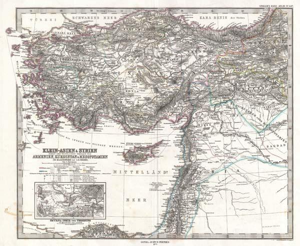 Klein-Asien & Syrien nebst Den Westlichen Theilen von Armenien, Kurdistan & Mesopotamien. - Main View