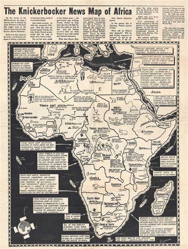 The Knickerbocker News Map of Africa.