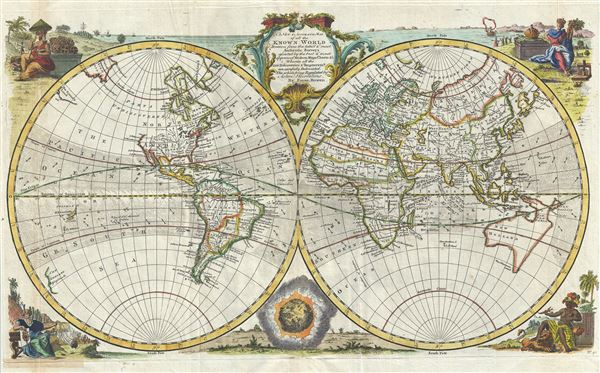 A New and Accurate Map of all the Known World. - Main View
